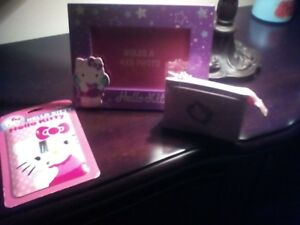 Hello kitty ,frame switch plate cover and change purse