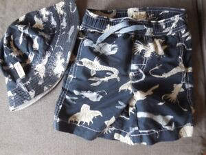Hatley Boys Swim Trunks and Hat- 4T