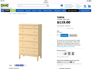 Brand new never unboxed IKEA dresser