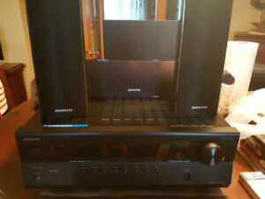 Onkyo HTR380 Surround sound with receiver and HDMI 5 speakers