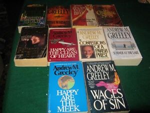 Andrew M Greeley books $1 each