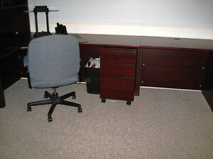 Commercial Sized Desk and Armoire Kitchener / Waterloo Kitchener Area image 2