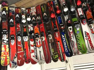 Skis alpin garçon 80à 140cm fille 80à140cm de 60à80$+-
