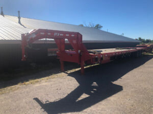 2018 PJ goose neck 44 ft flat bed with monster ramps 25,000 lbs