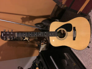 Yamaha Acoustic Guitar and Stand