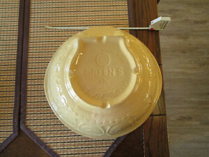 antique greens london 13 inch grip stand stoneware bowl mint