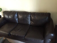Faux Leather Couch, priced to sell!!