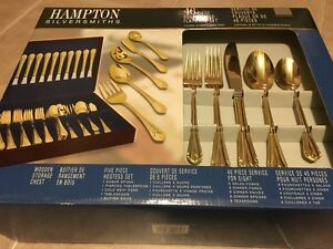 Beautiful Gold Plated Cutlery Set For Sale!