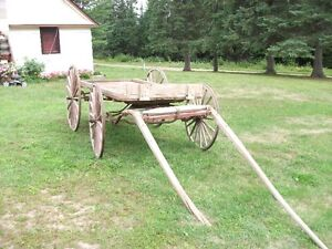wooden farm wagon