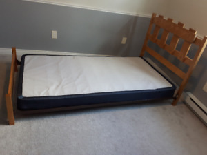 BEDROOM SET: Twin/Single Bed, BoxSpring, Dresser & Night Stand