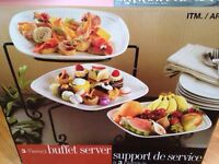 3 tier serving trays