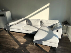 Grey Designer Sectional Sofa from Article - $2800 Value!
