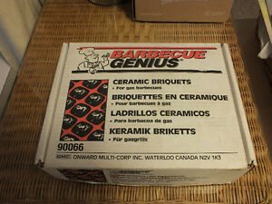 12 LB. BOX OF CERAMIC BRIQUETTES FOR GAS GRILLS etc.,.. Kitchener / Waterloo Kitchener Area image 1