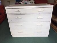 Post war utility furniture chest of drawers solid wood