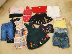 Age 4-5 girls clothing bundle - 17 items, immaculate condition.
