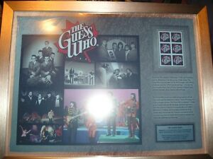 2013 GUESS WHO LIMITED EDITION FRAMED PRINT w/ STAMPS #/750