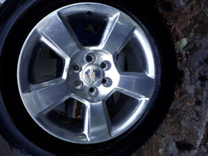 "20"" Chevrolet Rims with Dunlop 275 55 20 tires"