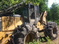 Skidder ready to work by tree or ton or hr