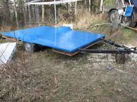 Utility flatdeck  quad snowmobile trailer