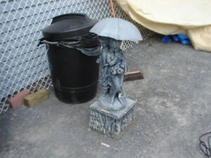 WATER FOUNTAIN CENTER FIGURE  FOR FISH POND WITH PUMP