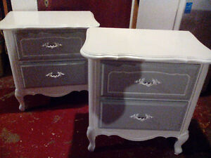 PAIR OF PAINTED FRENCH PROVINÇIAL NIGHT STANDS