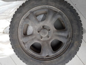 3 Mag Subaru Impreza + 1 Rim + Winter tires 205/55/R16