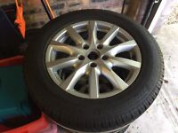 Four Dunlop Winter Sports Tyres with Alloys