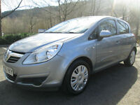 06/56 VAUXHALL CORSA 1.4 CLUB 5DR HATCH IN MET SILVER WITH ONLY 62,000 MILES