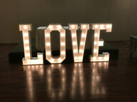 Lighted marquee