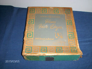 VINTAGE GENERAL ELECTRIC HOME HAIR DRYER-1961-ORIGINAL BOX!