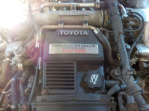3L Twin cam 24 valve turbo engine out of  1989 Supra $1500 cash