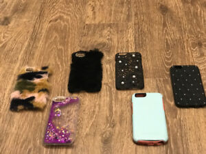 4 iPhone 6s and 2 iPhone 7 cases all rarely used except for one