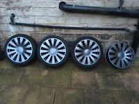 "Audi rs4/5/6 18"" alloy wheels 5x100/5x112 golf, Passat, caddy etc 180 ono"