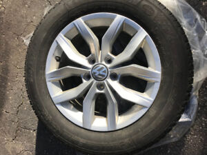 Winter Tires on Alloy Rims 215/60/R16 Michelin X-ICE for VW