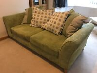 2 x 3 seater sofas & storage footstool