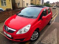 59 REG •VAUXHALL CORSA •PANO ROOF• RED •like audi ford vxr astra golf bmw car polo