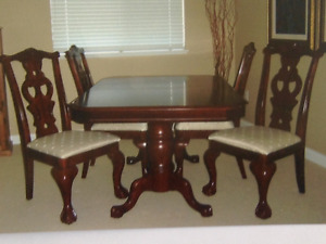 Dining table and four chair -  Rosewood