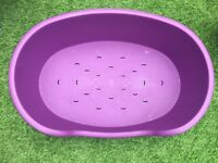 Large plastic dog bed (excellent condition)