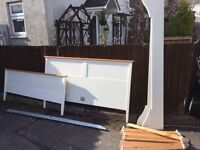 CREAM KING SIZE BED FRAME ** FREE DELIVERY AVAILABLE THURSDAY NIGHT **