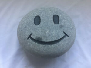 Smiley Face Garden Stone