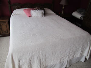 Beautiful White Bed Spread