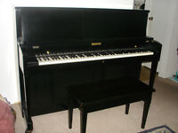 BLACK BALDWIN HAMILTON BABY GRAND PIANO