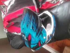 BMX Fly Racing gear with helmet