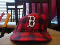 2 boston red sox new era hats size 7 1/4 10.00 obo for both