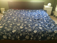 IKEA King MALM bed & mattress, sheets & comforter all included