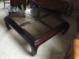 Solid Cheery Wood Strathroy Coffee Table with 1 Matching Table