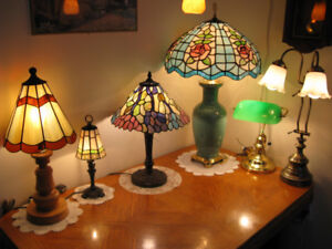 TIFFANY TABLE LAMP COLLECTION, truly one of a kind, 416-483-1730