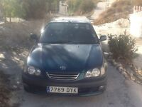 Spanish Registered RHD Toyota Avensis in Spain not LHD