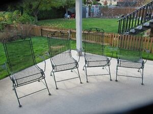 metal spring chairs