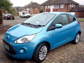 Blue Ford KA 2009 fantastic condition leather sporty interior